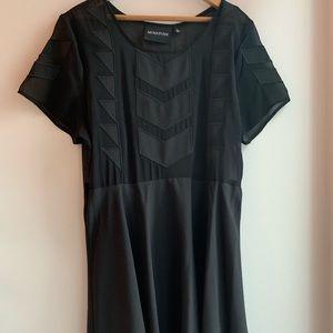 MinkPink Black Hipster Dress